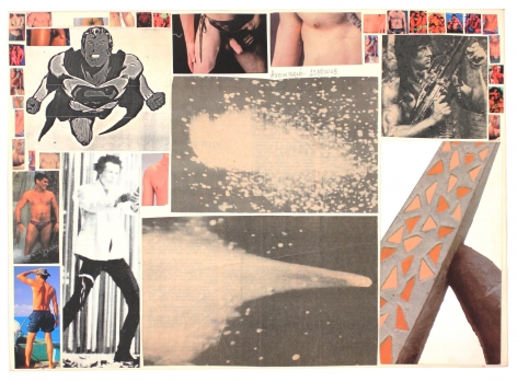 Hudinilson Jr. Untitled, 1980/2008 UNIQUE double sided collage on paper, SIGNED