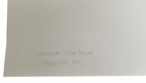 Jonathan Monk Unused Test Print Porsche RH, Alternate Projects