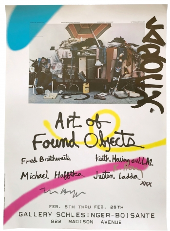 Keith Haring,  Art of Found Objects, SIGNED, Alternate Projects