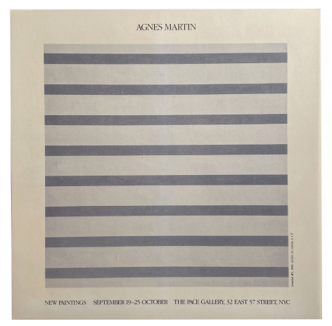 Agnes Martin · Posters As Announcements 1963-1995