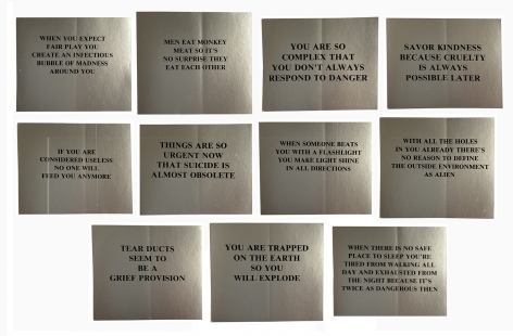 Jenny Holzer, Truism Stickers, ca early 1980s, Alternate Projects