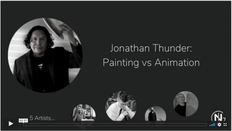 Jonathan discusses paintings and animations