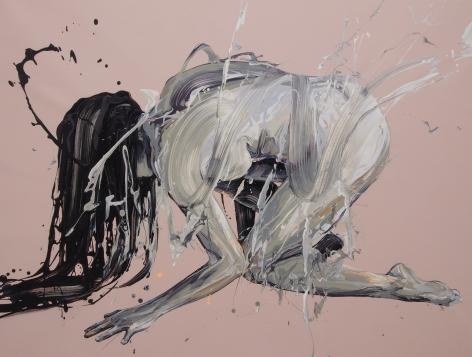 """Transcription 47 (the Load)"", acrylic on canvas, 31"" x 41"", 2018"