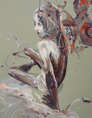"""""""Transcription 43"""", acrylic on canvas, 55"""" x 43"""", 2018"""