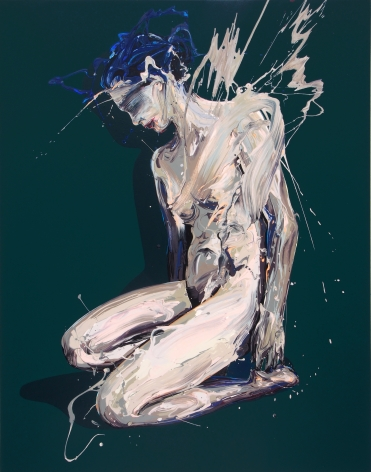 """Transcription 46 (Unnatural)"", acrylic on canvas, 55"" x 43"", 2018"