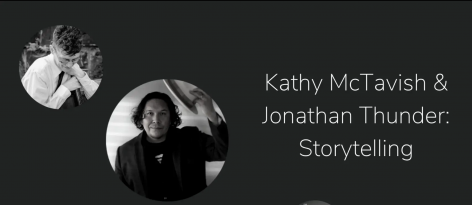 Kathy McTavish asks Jonathan about story telling in his work