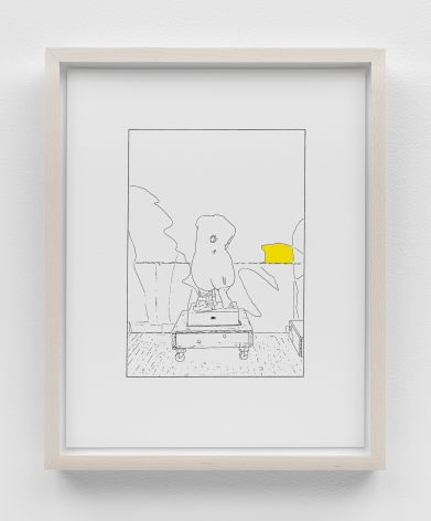 Louise Lawler work 'Hand on Her Back (traced and painted), Fifth'