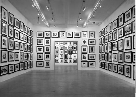 """Magellan,"" installation view, 1998. Metro Pictures, New York."