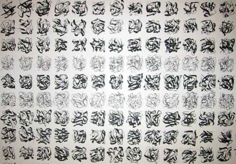 Untitled, 2002. Ink on paper, 22 1/2 x 30 inches. MP D-267