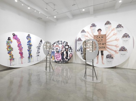 "Olaf Breuning, ""The Life."" Installation view, 2015. Metro Pictures, New York."