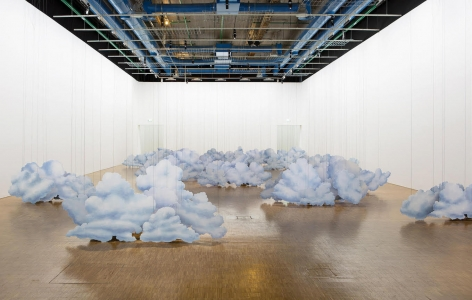 Latifa Echakhch's L'air du temps installation view at the Centre Pompidou