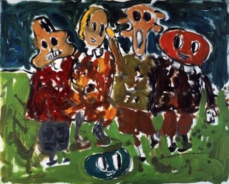 Untitled (mehrere figuren), 2007. Oil on canvas. MP 23