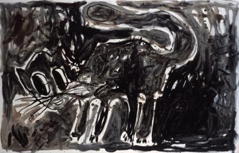 Untitled (Katze), 2007. Oil on canvas. MP 14