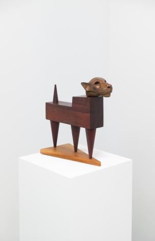 Jaguar, 2013. Wood and bronze,