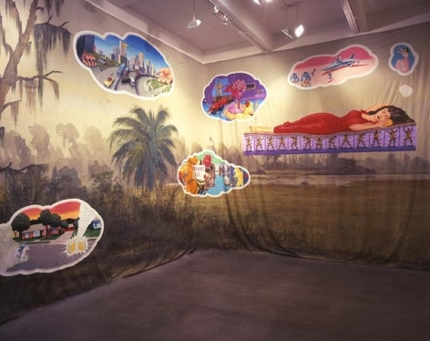 The Woman in the Wilderness (detail), 2005. Acrylic on oil cloth, 78 feet, 9 inches long, 15 feet high (2400 cm long, 457.2 cm high). MP 162