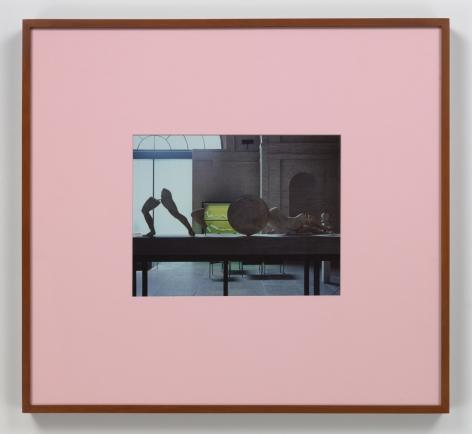 "Louise Lawler framed photograph ""Pink Mat"""