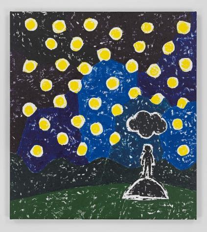 Olaf Breuning painting 'Black Cloud'