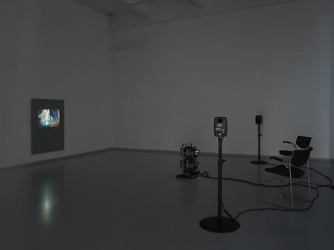 Tris Vonna-Michell. Postscript III (Berlin), 2014. Installation view at Metro Pictures, New York, 2014.