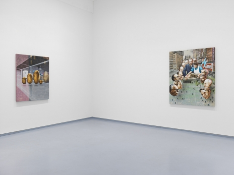 Jim Shaw, The Family Romance. Installation view, 2019. Metro Pictures, New York.