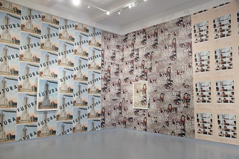 """""""Movie Posters,"""" installation view, 2013. Metro Pictures, New York."""