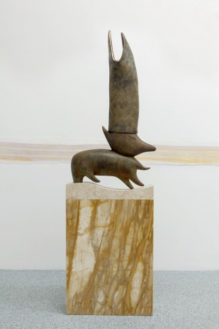 Camille Henrot - The Man Who Understands Animal Speech Will Be Pope sculpture on base