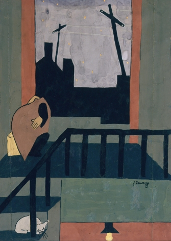 Jacob Lawrence Christmas in Harlem, 1937