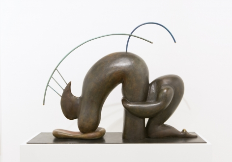 Dependent Personality Disorder 2, 2015. Bronze, 31.5 x 45.28 x 12.99 inches (80 x 115 x 33 cm).