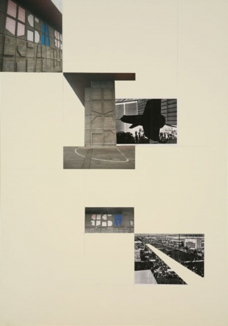 David Maljkovic - Lost Pavilions collage on paper