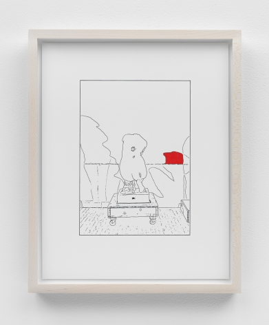 Louise Lawler work 'Hand on Her Back (traced and painted), Fourth'