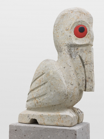 Olaf Breuning sculpture 'Sad and worried animals / Pelican'