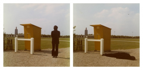 Bas Jan Ader photographs 'Studies for Westkapelle, Holland'