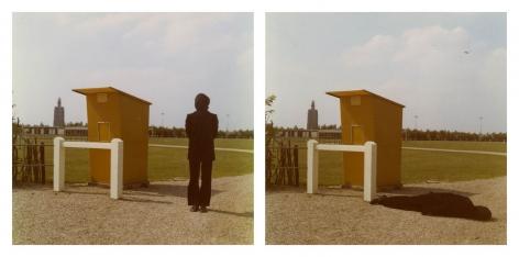 Bas Jan Ader photographs 'Studies for Westkapelle, Holland'