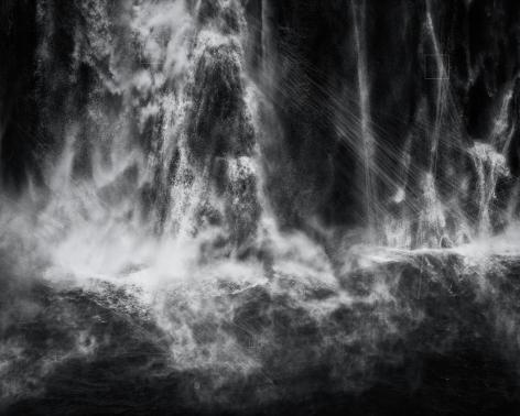 Shoshone Falls Hough Transform; Haar, 2017. Silver Gelatin Print, 48 x 60 inches (121.9 x 152.4 cm).