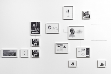 Alexandre Singh installation of arranged framed inkjet prints