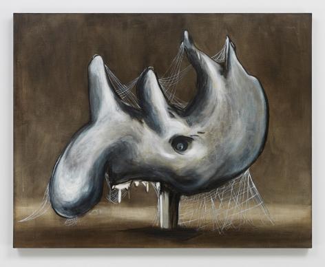 Skin. Horn. Teeth., 2019. Oil on linen, 35 x 44 1/2 inches (88.9 x 113 cm).