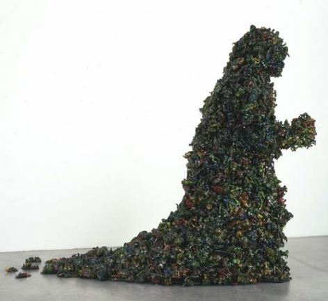 Heap, 2005. Styrofoam, plastic spray paint, resin, metal rods, 64 x 24 x 77 inches (162.6 x 61 x 195.6 cm). MP 161