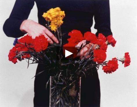 Bas Jan Ader video of flower arrangement