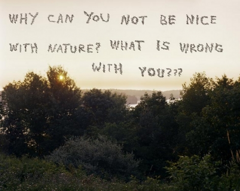 Why Can You Not Be Nice With Nature? 2008. Mounted c-print on 6mm sintra, framed, 60 x 75 inches (152.4 x 190.5 cm). MP P-54