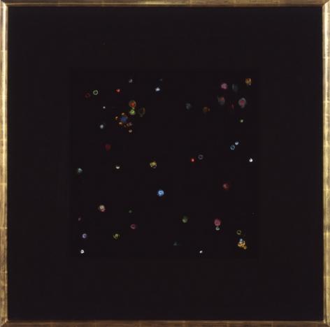 Black Velvet Study #1, 2002. Acrylic on black velvet mounted on wooden panels, 24 1/4 x 24 1/4 inches. MP 02-19