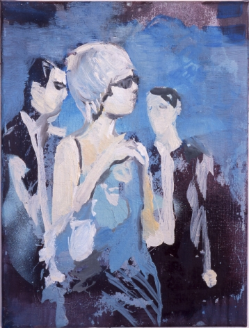 Paulina Olowska painting of 3 figures