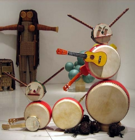 We Only Play Around, 2005. Musical instruments, 52 x 51 x 26 inches (132.1 x 129.5 x 66 cm). MP 18