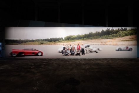 In Low Resolution. Installation view, 2014. Palais de Tokyo, Paris.