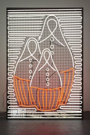 Natascha, 2010. White neon, 78.74 x 51.18 inches (200 x 130 cm).