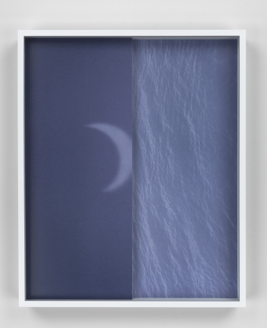 Shadow/Sun/Moon/Sea, 2015. 2 Digital C-prints, one printed mounted on aluminum, one on glass. 16 x 13 inches (40.6 x 33 cm).
