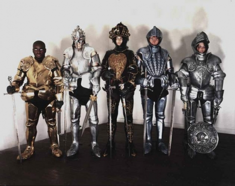Knights, 2001. C-print mounted on aluminum, laminated, 48 x 62 inches (122 x 155 cm). Edition of 5. MP P-15-A