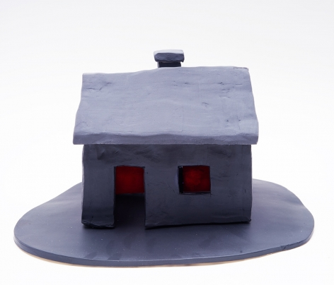 House, 2017, 4 ceramic sculptures, 7.87 x 12.99 x 9.45 inches, (20 x 33 x 24 cm)