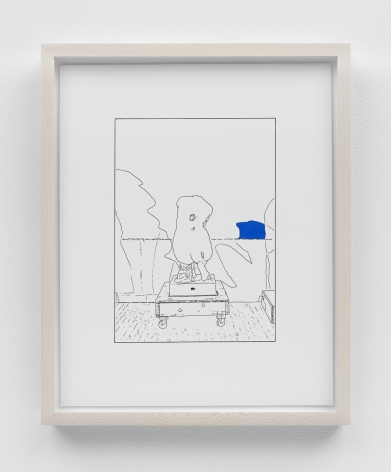 Louise Lawler work 'Hand on Her Back (traced and painted), Sixth'