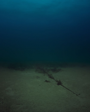 Trevor Paglen photograph 'Bahamas Internet Cable System (BICS-1) NSA/GCHQ-Tapped Undersea Cable Atlantic Ocean'