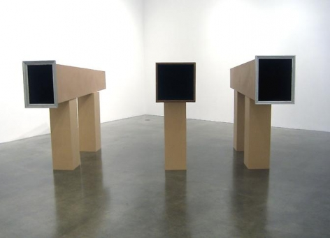 Time Tubes, 2010. MDF wood composite, 5 individual works.