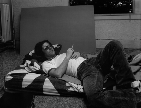 James Welling photograph of a reclined Jack Goldstein